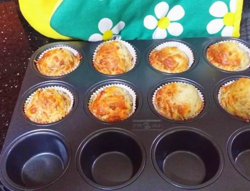 Bacon cocktail sausages n cheese muffins – by Tania Lim