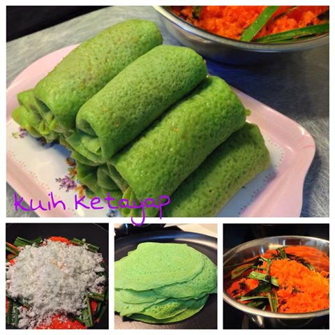 Kuih Ketayap (Crepe with sweet coconut filling) – by Shirley Ho