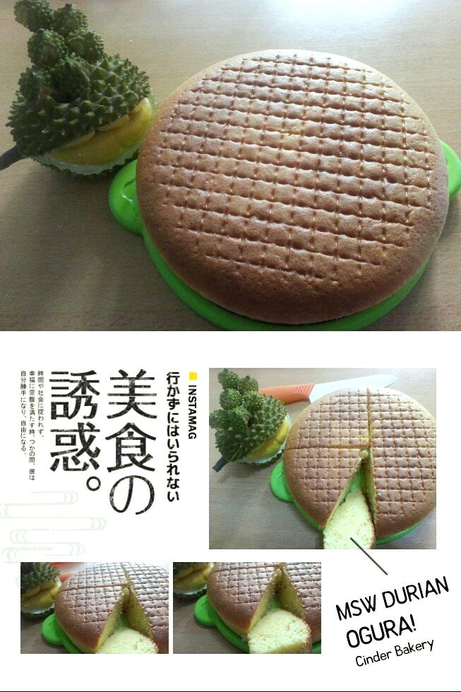 Durian Ogura Cake by Cinder Leong