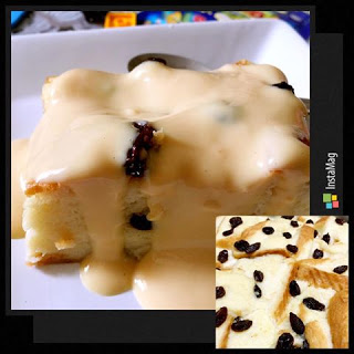 BREAD PUDDING & CUSTARD SAUCE